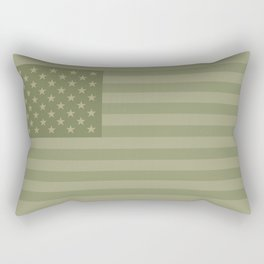 Camo Stars and Stripes – USA Flag in Military Camouflage Colors [FalseFlag 1] Rectangular Pillow