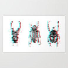 3d bugs Art Print