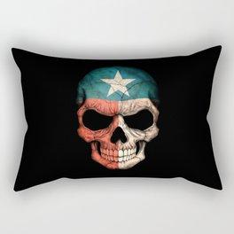 Dark Skull with Flag of Texas Rectangular Pillow