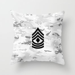 1st Sergeant (Winter Camo) Throw Pillow