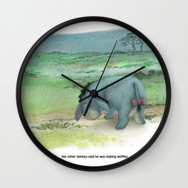 waffles and grievances Wall Clock
