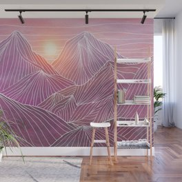 Lines in the mountains 02 Wall Mural
