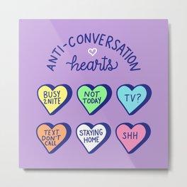 Anti-Conversation Hearts (pastel) Metal Print