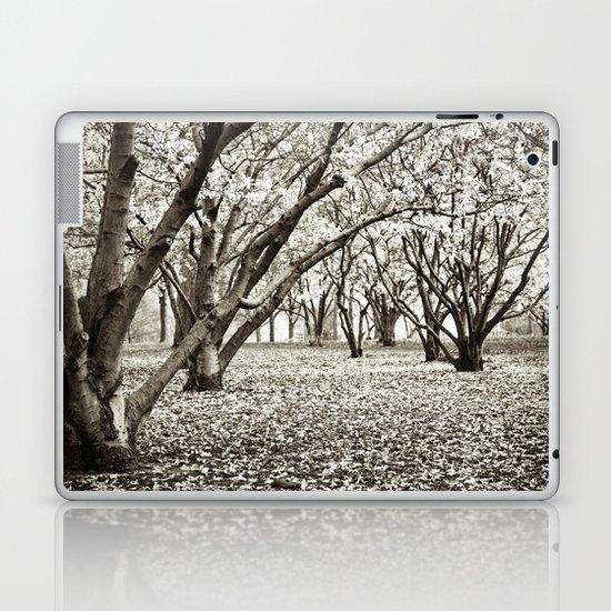 Magnolias in Black & White Laptop & iPad Skin
