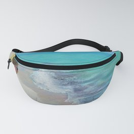 Boy Meets Wave Seascape Beach Painting Fanny Pack