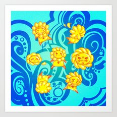 Flower Kids Art Print