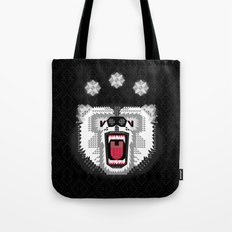 Polar Bear Geometric Tote Bag