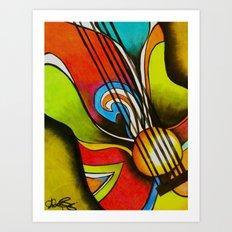 Untitled (Guitar)  Art Print