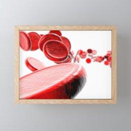 Cell Blood Framed Mini Art Print