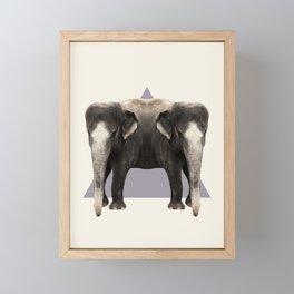 DOUBLE ANIMALS: ELEPHANTS Framed Mini Art Print