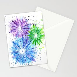 Firework Celebration Stationery Cards