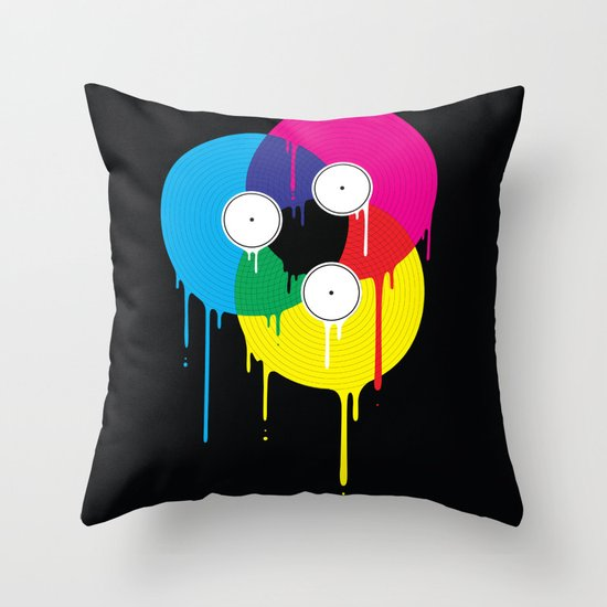 Melting Vinyl Throw Pillow