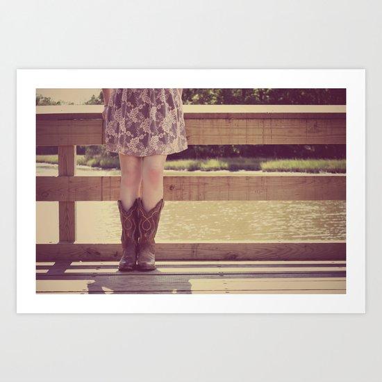 Thank God I Was Born a Country Girl Art Print