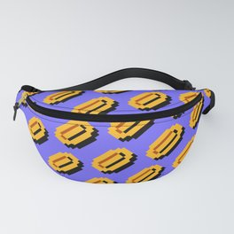 Super Mario Bros. (NES) coins pattern with blue sky background Fanny Pack
