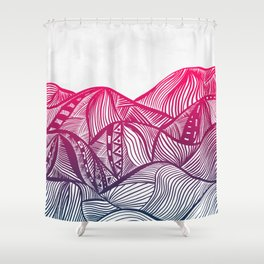 Lines in the mountains 05 Shower Curtain