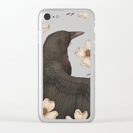 The Crow and Dogwoods Clear iPhone Case