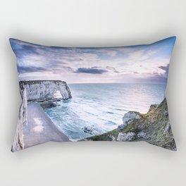Natural Rock Arch -  ocean, coastal cliffs, waves, clouds, Rectangular Pillow