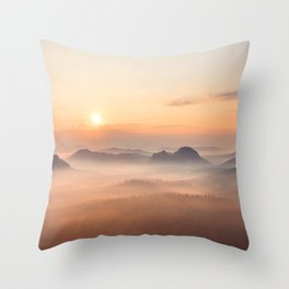 Valley of Light Throw Pillow
