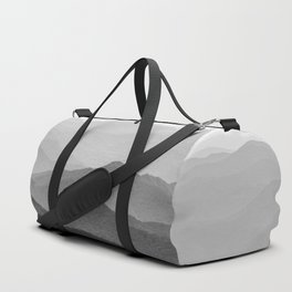 Forest Fade - Black and White Landscape Nature Photography Duffle Bag