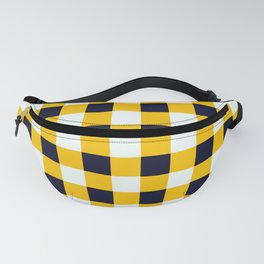 Yellow Chessboard Fanny Pack