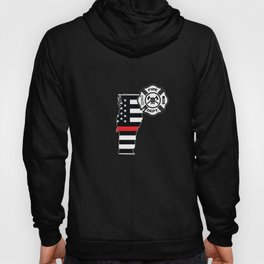 Vermont Firefighter Shield Thin Red Line Flag Hoody