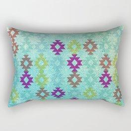 Santa Fe Dreams Geometric Aztec Colorful Design Rectangular Pillow