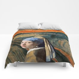 The Scream of Pearl Earring Girl Comforters