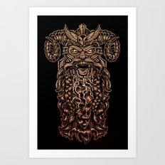 Viking Rabies Art Print