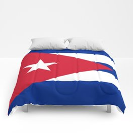 National flag of Cuba - Authentic HQ version Comforters