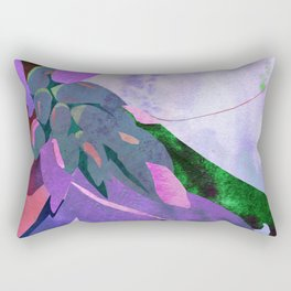 Purple Canna Lily Abstract Watercolor Floral Art Print Rectangular Pillow
