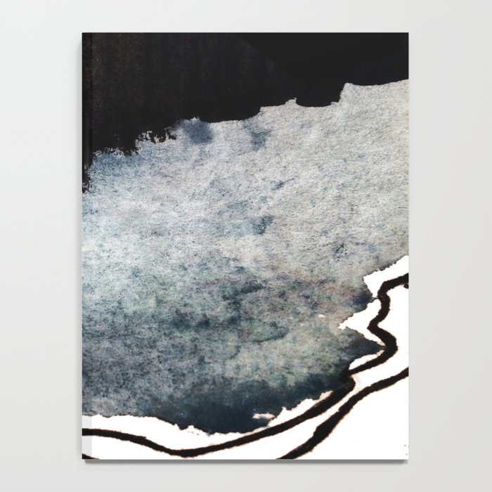 Closer - a black, blue, and white abstract piece Notebook