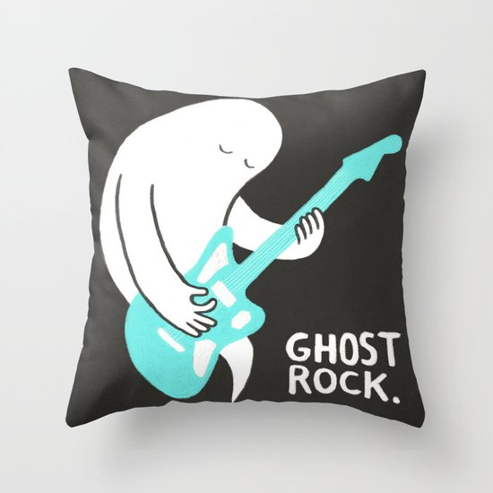 Ghost Rock Throw Pillow