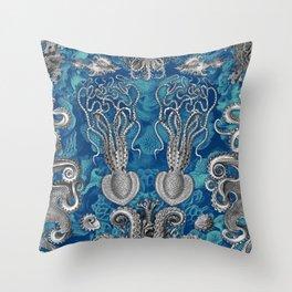 The Kraken (Blue - No Text) Throw Pillow
