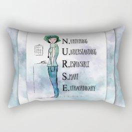 Nurse with Stethoscope Rectangular Pillow