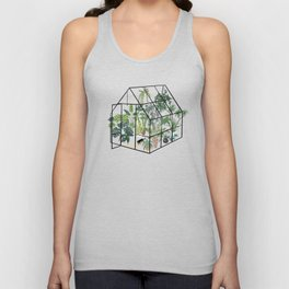 greenhouse with plants Unisex Tank Top