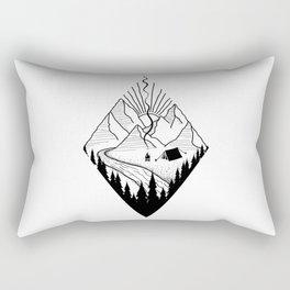 hiker hiking outdoor mountains nature camping gift Rectangular Pillow