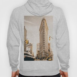 Vintage Flat Iron Building NYC (Color) Hoody