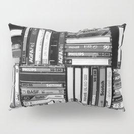 Music Cassette Stacks - Black and White - Something Nostalgic IV #decor #society6 #buyart Pillow Sham