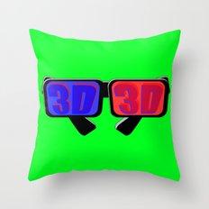 Green Screen 3D Throw Pillow