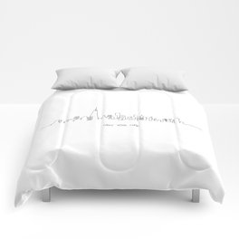 New York City Skyline Drawing Comforters