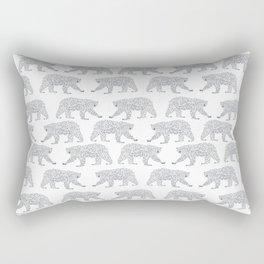 Polar Bears geometric trendy kids bear pattern print for boy or girl gender neutral Rectangular Pillow