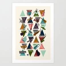 Alphabet of Instruments Art Print