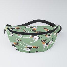 Japanese Terrier Green Fanny Pack
