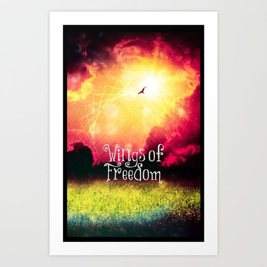 Wings of Freedom - for Iphone Art Print