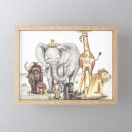On Safari Framed Mini Art Print