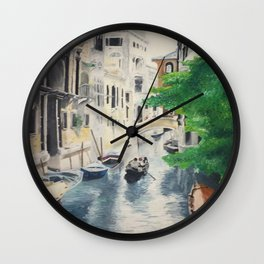 Venice digital print Wall Clock