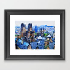 Edinburgh Rooftops  Framed Art Print