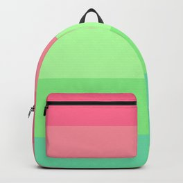 Watermelon Paradise Stripe Colour Palette Backpack