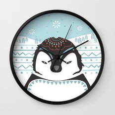 Messer Pinguino Wall Clock
