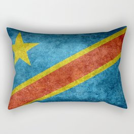National flag of the Democratic Republic of the Congo, Vintage version (to scale) Rectangular Pillow